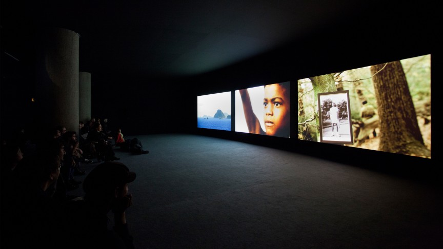 After Year Zero | The Unfinished Conversation, John Akomfrah 2012, installation view | Photo: Jakob Hoff