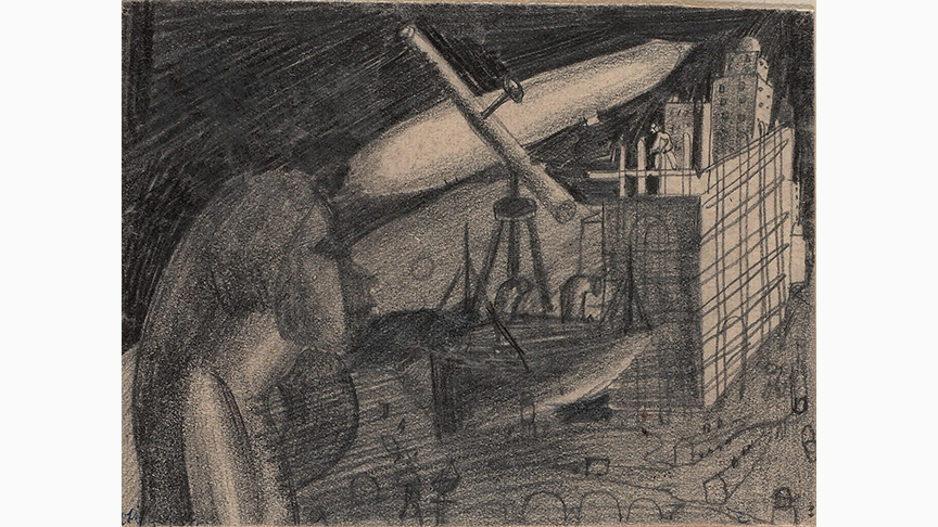 Solomon Nikritin, Composition with Telescope, 1920s | Greek State Museum of Contemporary Art – Costakis Collection, Thessaloniki